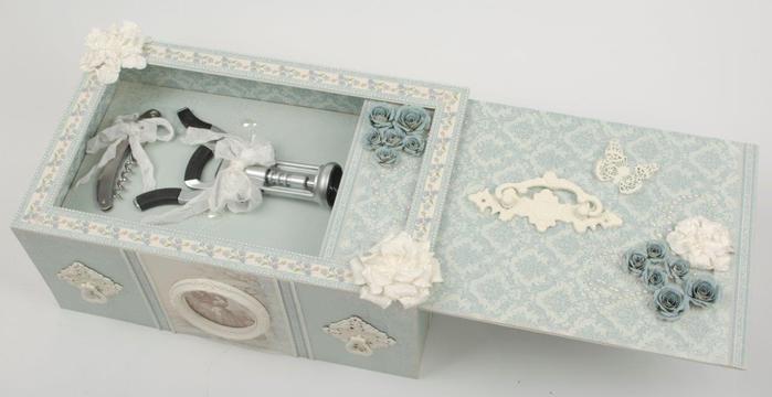 Caja con tapa deslizante de vino y copas de vino.  Gran regalo con sus propias manos!  (12) (700x360, 134Kb)