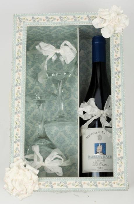 Caja con tapa deslizante de vino y copas de vino.  Gran regalo con sus propias manos!  (14) (459x700, 200Kb)