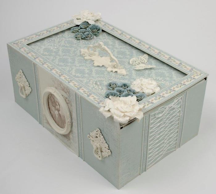 Caja con tapa deslizante de vino y copas de vino.  Gran regalo con sus propias manos!  (15) (700x631, 211KB)