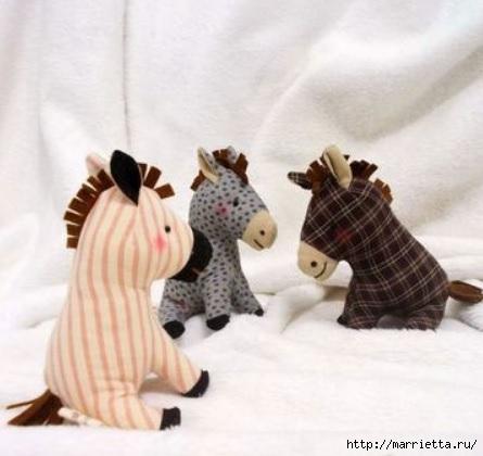 Шьем коня, пони и барашек. Выкройки (2) (445x420, 89Kb)