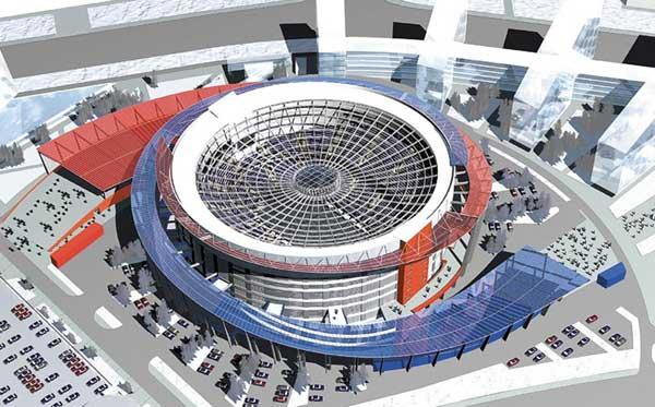 """Генеральный директор дворца спорта  """"Мегаспорт """" Михаил Загайнов в интервью  """"Советскому спорту """" сказал, что арена будет..."""