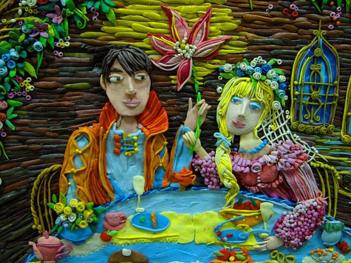 Пластилиновая сказка! Автор Анастасия Волкова!