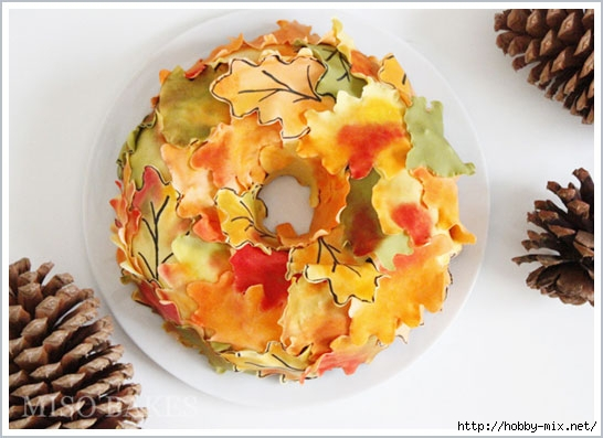 autumn_wreath_cake_6 (546x397, 136Kb)