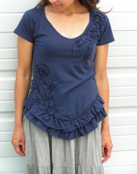 Платье из трикотажной футболки своими руками
