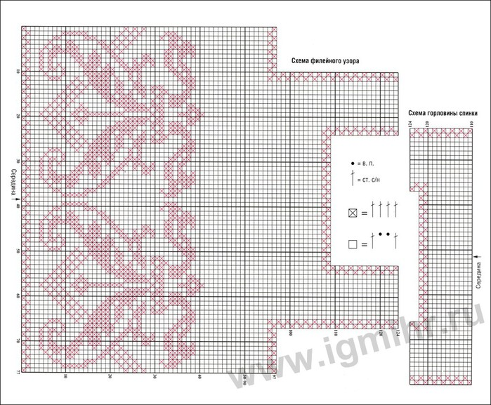 Кофточки филейное вязание крючком схемы и описание 820
