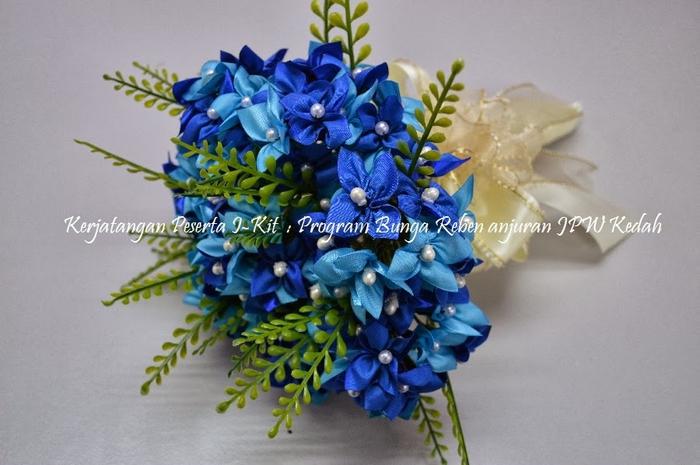 Цветы из лент и ткани. Красивые букеты (2) (700x465, 225Kb)