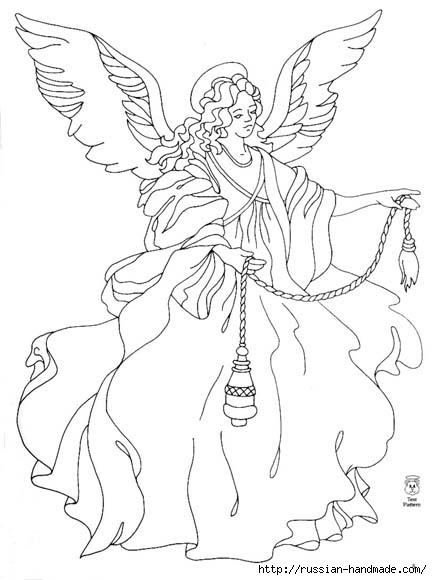 трафареты ангелов (4) (432x580, 106Kb)