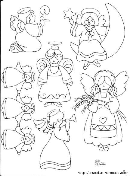 трафареты ангелов (6) (432x583, 132Kb)