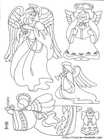 трафареты ангелов (8) (432x580, 147Kb)