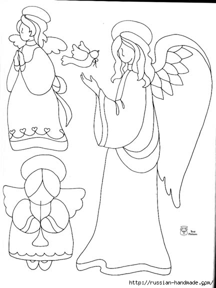 трафареты ангелов (10) (432x576, 95Kb)