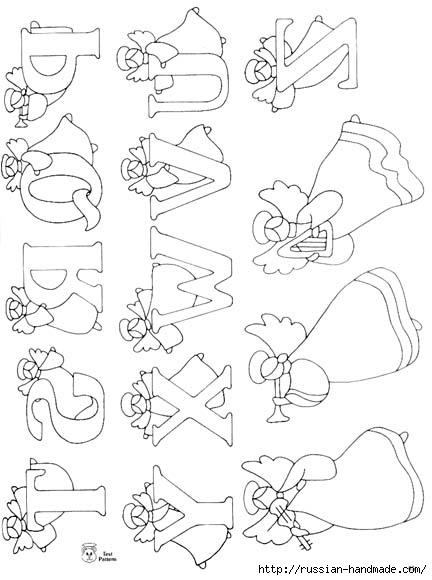 трафареты ангелов (12) (432x580, 117Kb)