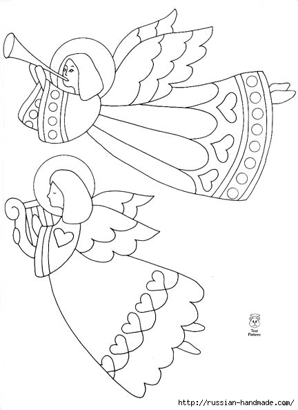 трафареты ангелов (20) (432x594, 94Kb)