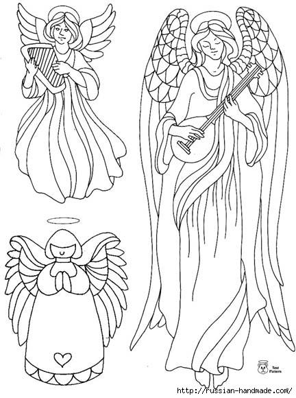 трафареты ангелов (28) (432x580, 153Kb)