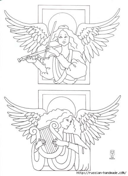 трафареты ангелов (34) (432x593, 112Kb)