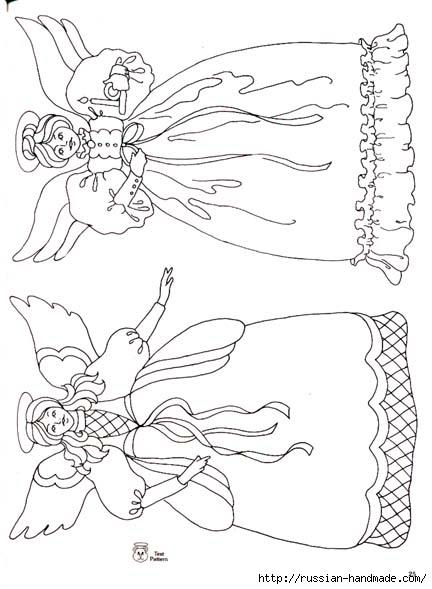 трафареты ангелов (36) (432x589, 125Kb)