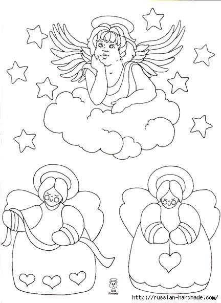 трафареты ангелов (38) (432x592, 115Kb)