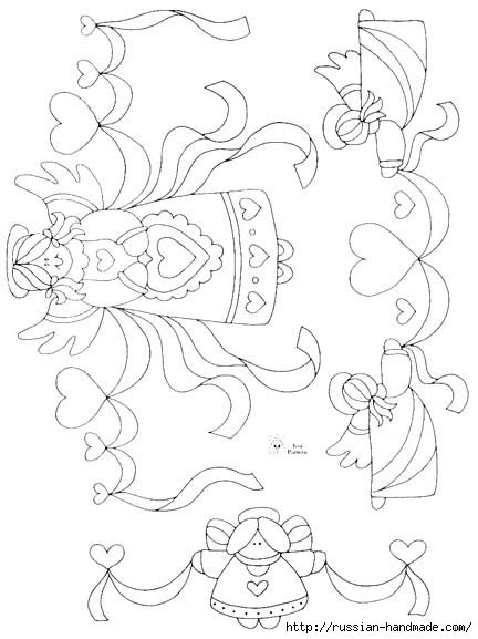 трафареты ангелов (58) (432x577, 110Kb)