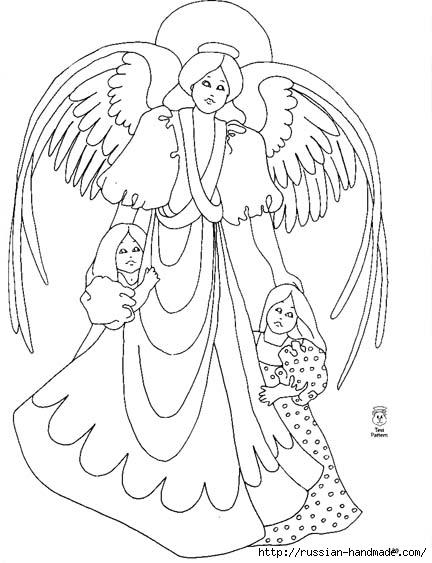 трафареты ангелов (68) (432x563, 122Kb)