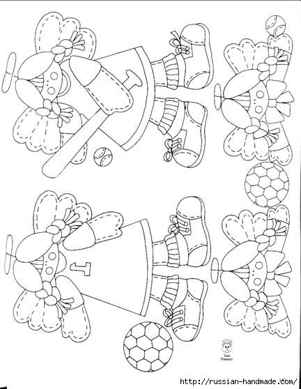 трафареты ангелов (74) (432x558, 129Kb)