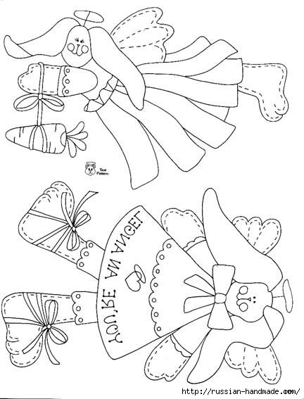 трафареты ангелов (78) (432x567, 116Kb)