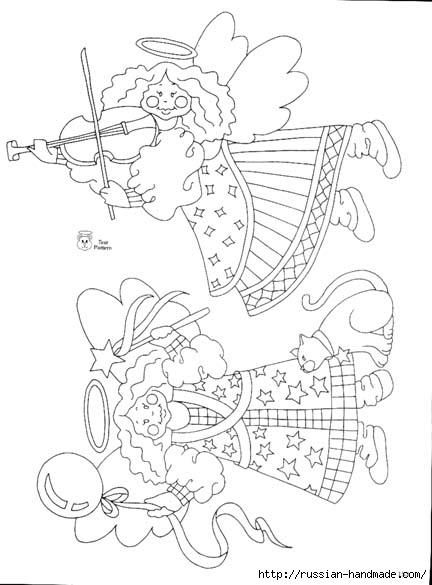 трафареты ангелов (80) (432x585, 116Kb)