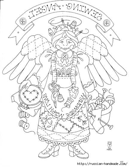 трафареты ангелов (82) (432x558, 143Kb)