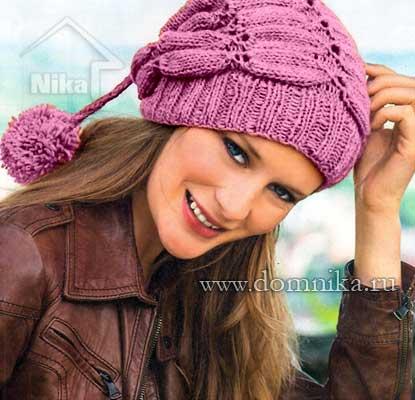 Фото женских вязанных шапок женских