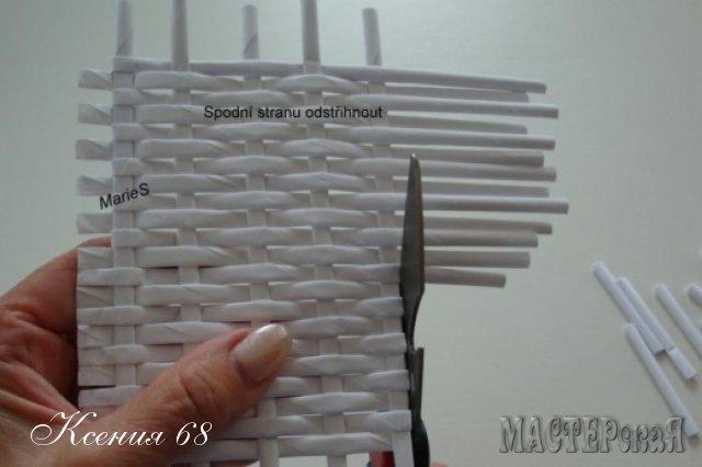 ПЛЕТЕНИЕ ИЗ ГАЗЕТ. Плетенка для специй с перегородками (13) (640x426, 94Kb)