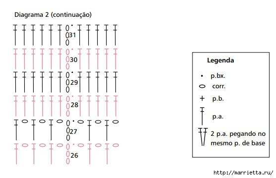 Стильный берет крючком. Схема (3) (556x359, 68Kb)