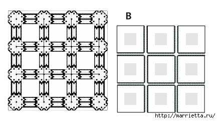 Нарядная скатерть. Ткань плюс крючок (4) (435x241, 61Kb)