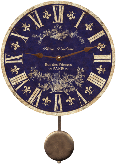 blue-toile-french-country-wall-clock (400x568, 341Kb)