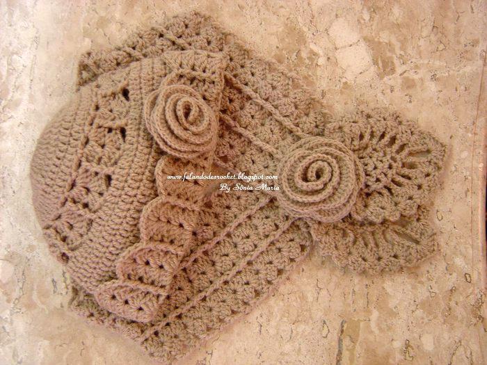 Изящные ажурные шапочка и шарф