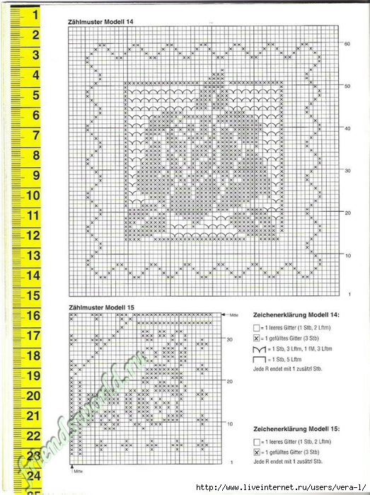 钩针桌布图解(75)