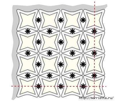 Скатерть и обвязка края крючком. Схемы (5) (402x353, 110Kb)