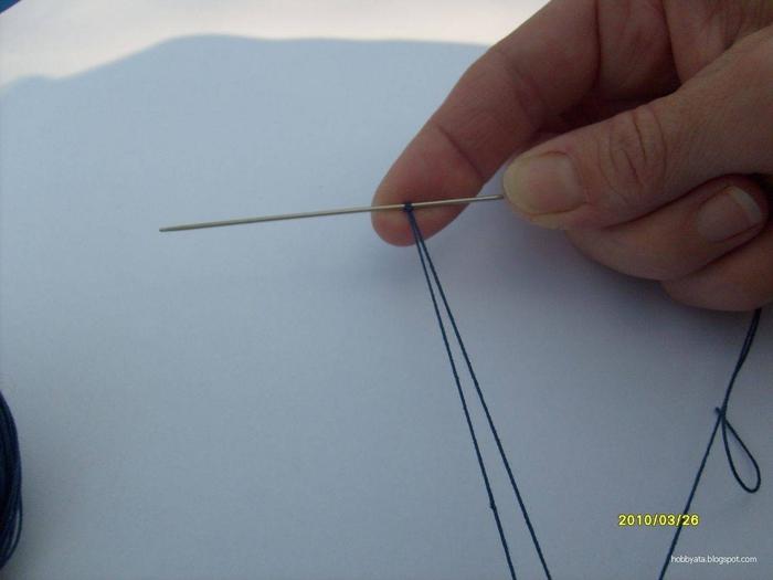 Игла для вязания фриволите 10