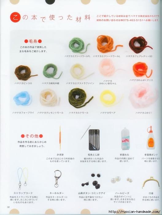 Вяжем крючком пирожные с десертом. Японская книжка со схемами (34) (528x700, 187Kb)