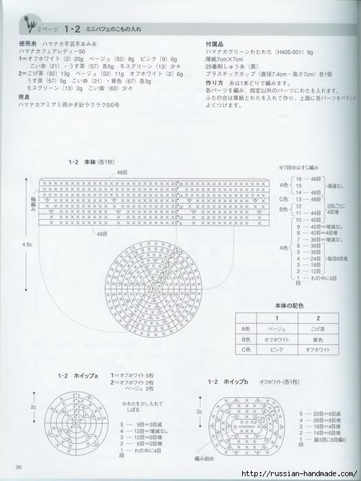 Вяжем крючком пирожные с десертом. Японская книжка со схемами (38) (525x700, 200Kb)