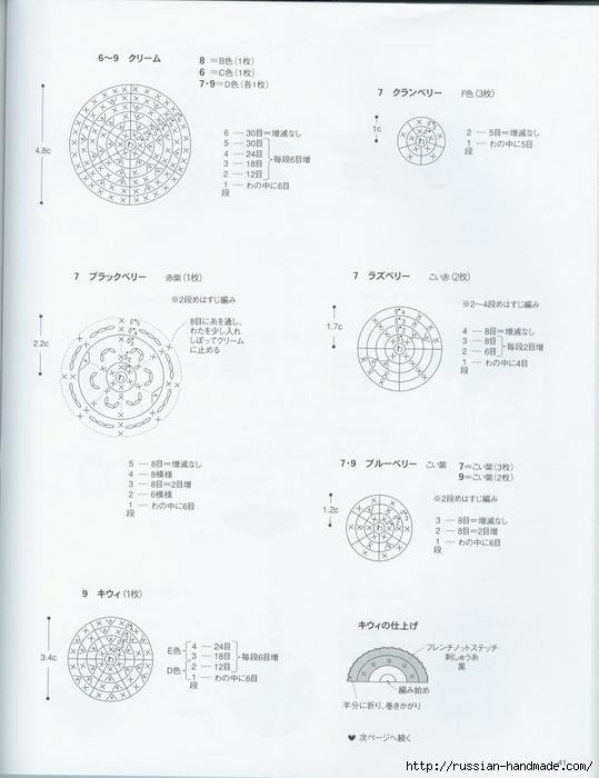 Вяжем крючком пирожные с десертом. Японская книжка со схемами (43) (539x700, 157Kb)