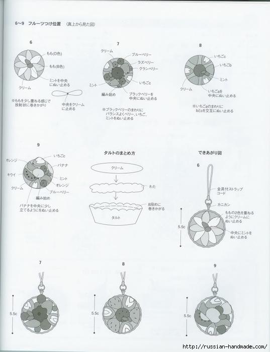 Вяжем крючком пирожные с десертом. Японская книжка со схемами (45) (537x700, 162Kb)