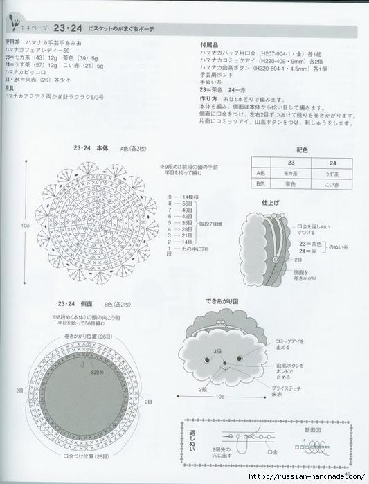 Вяжем крючком пирожные с десертом. Японская книжка со схемами (51) (533x700, 201Kb)