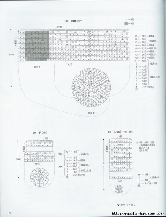 Вяжем крючком пирожные с десертом. Японская книжка со схемами (72) (534x700, 185Kb)