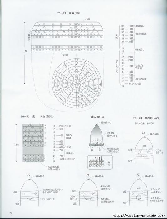 Вяжем крючком пирожные с десертом. Японская книжка со схемами (74) (534x700, 180Kb)