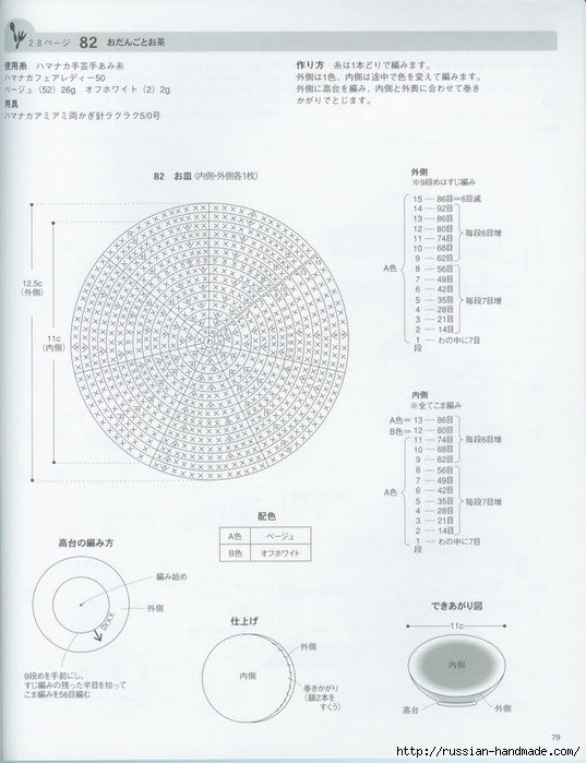 Вяжем крючком пирожные с десертом. Японская книжка со схемами (81) (537x700, 185Kb)