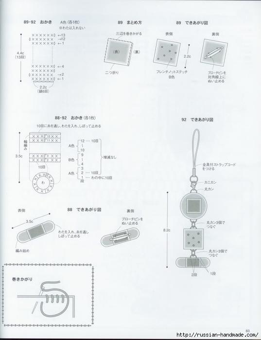 Вяжем крючком пирожные с десертом. Японская книжка со схемами (85) (537x700, 152Kb)