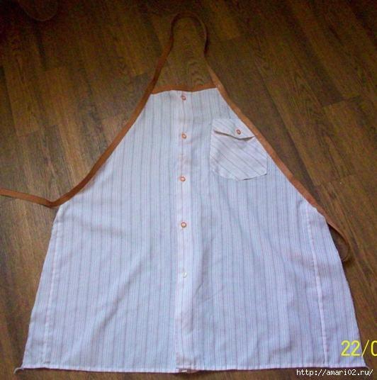 Фартук из мужских рубашек мастер класс