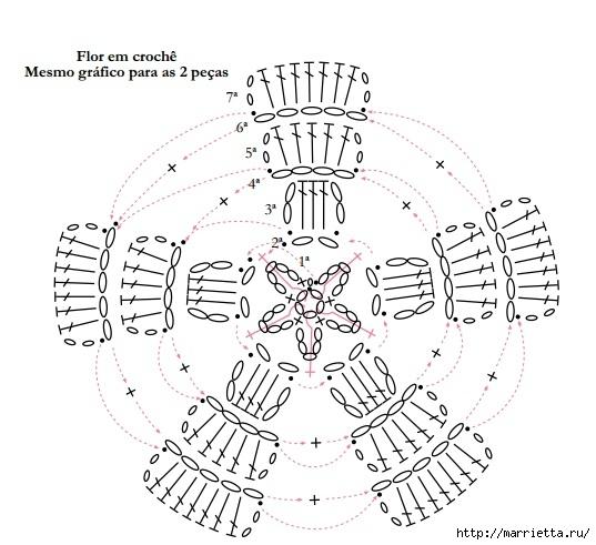 Вязание крючком. Идеи для дома со схемами (3) (537x491, 146Kb)