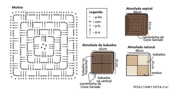 Вязание крючком. Идеи для дома со схемами (13) (585x308, 122Kb)