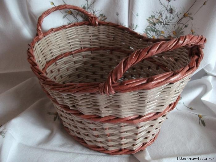 Плетение из газет. Идеи и мастер-класс на донышко плетенки (5) (700x525, 275Kb)