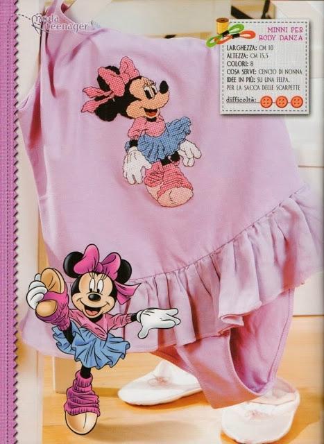 Детская вышивка. Схемы Микки