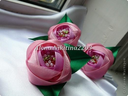 Цветочки из ленточек от Алены Никитиной (8) (520x390, 136Kb)